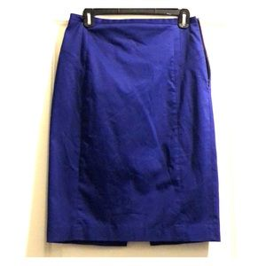 Deep purple pencil skirt